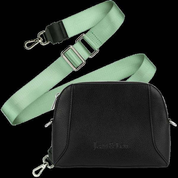 Handbag Paris + Schulterriemen Mint