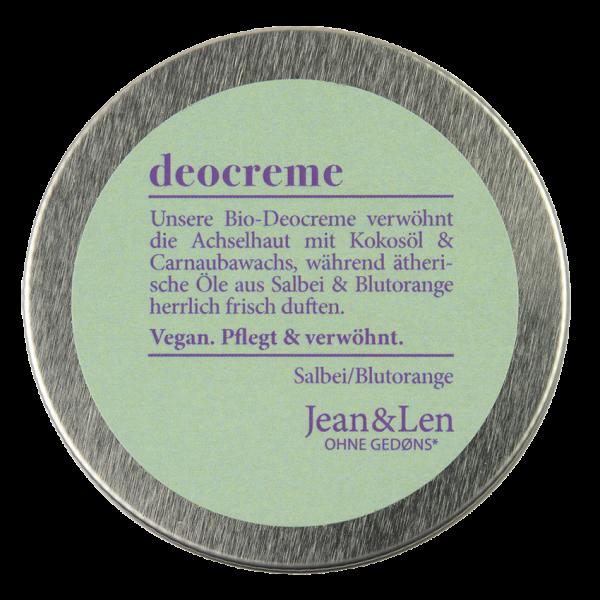 Organic Deodorant Cream Sage/Blood Orange, 50 ml