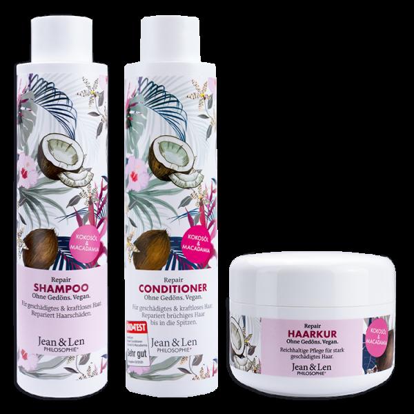Haarpflegeset Repair Kokosöl & Macadamia Shampoo Conditioner Kur