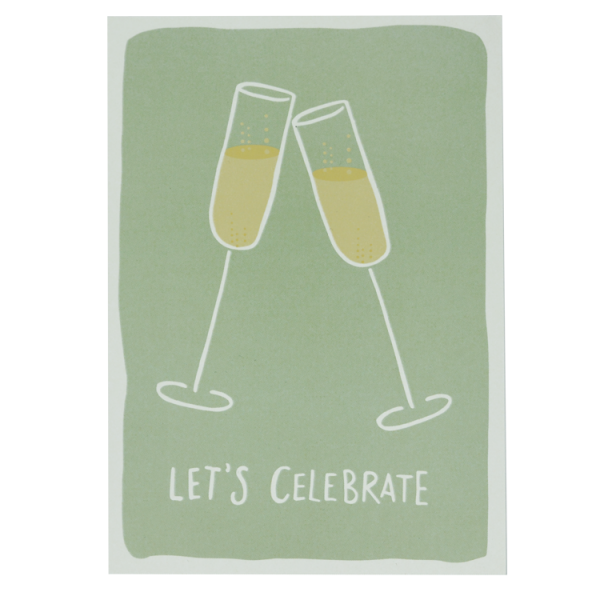 Postkarte let´s celebrate