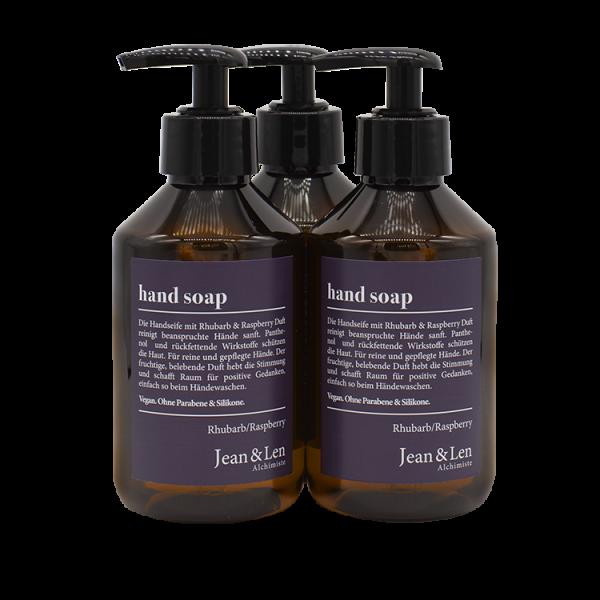 Hand Soap Set Rhubarb & Raspberry