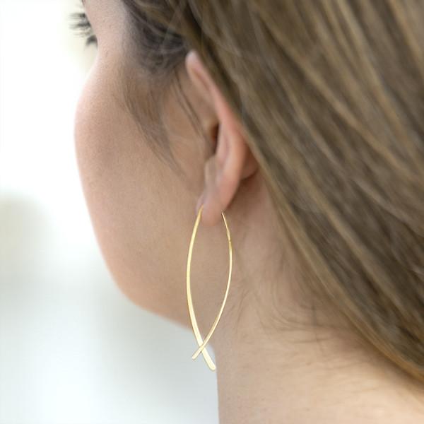 Greta Ohrring - 925 Silber vergoldet