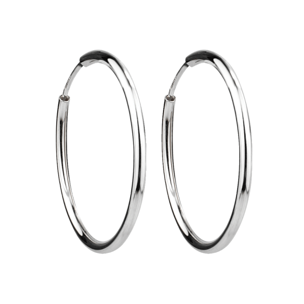 Mia Creole 3cm - 925 Silber