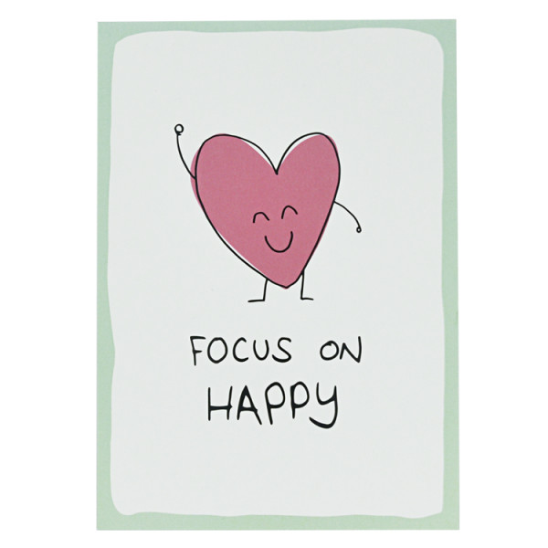 Postkarte Focus on happy