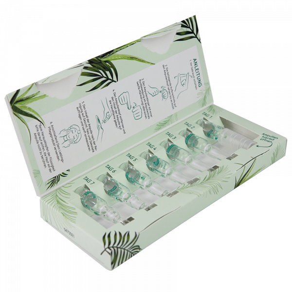 Feuchtigkeitsspendende Ampullen Aloe Vera/Gurke, 7 x 1ml