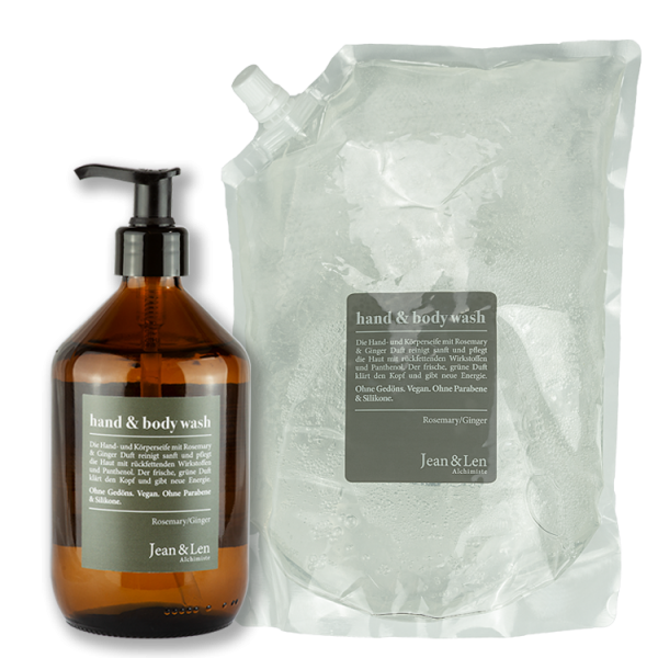 Hand & Body Wash Rosemary & Ginger + Nachfüllpack