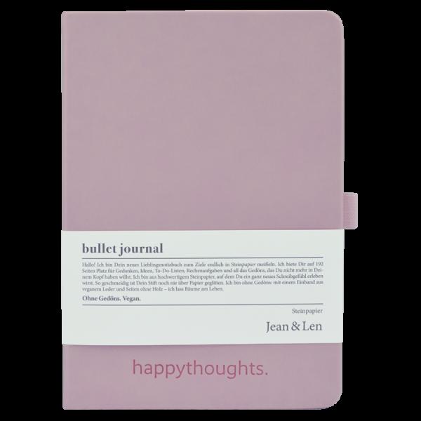 Notizbuch Steinpapier rosa