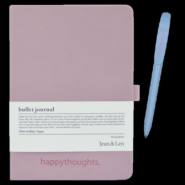 Notizbuch rosa mit Kugelschreiber