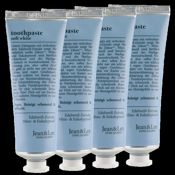 Toothpaste soft white 4er-Set