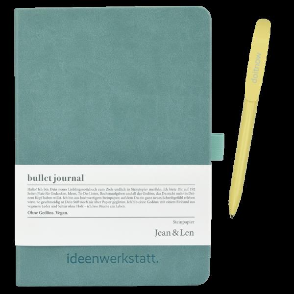 Notizbuch mint mit Kugelschreiber