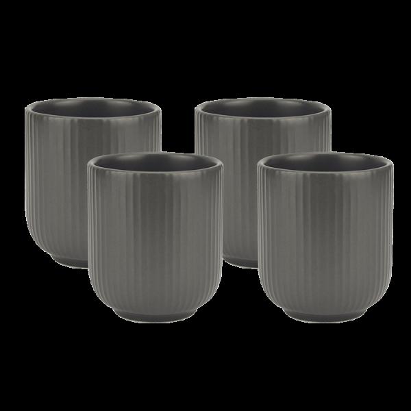 Porcelain Cup Grey Set of 4