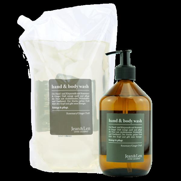 Hand & Body Wash Rosemary/Ginger + Nachfüllpack