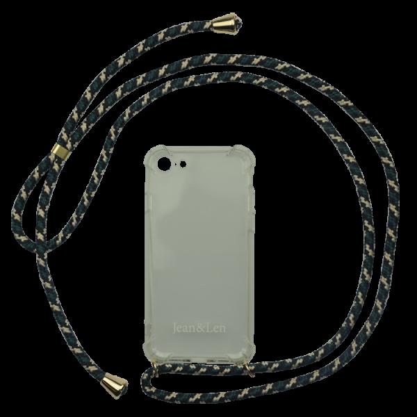 Handykette grün/beige/schwarz iPhone 7/8