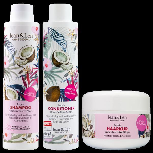 Haarpflegeset Repair Kokosöl/Macadamia Shampoo Conditioner Kur