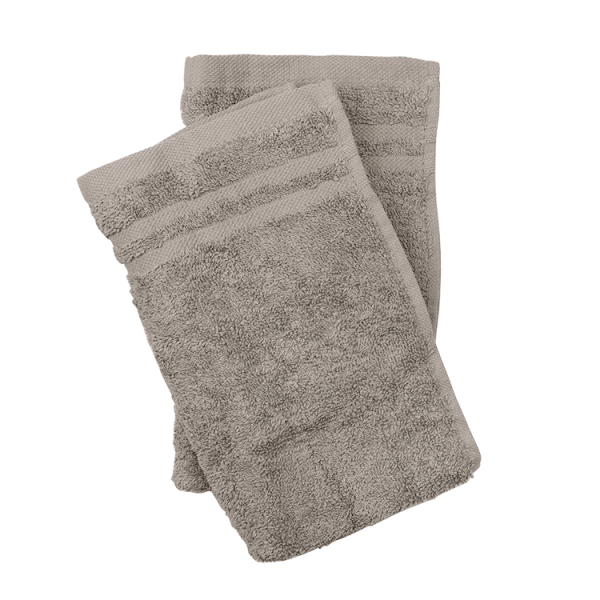 Handtuch 2er Set, 30x50 taupe