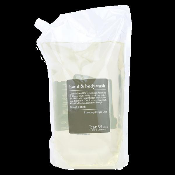 Hand & Body Wash Rosemary/Ginger Refill Pack, 1500 ml