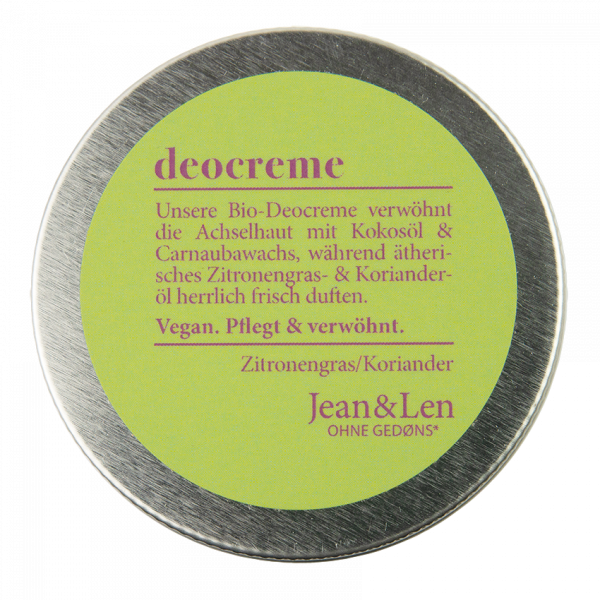Bio-Deocreme Zitronengras/Koriander, 50 ml