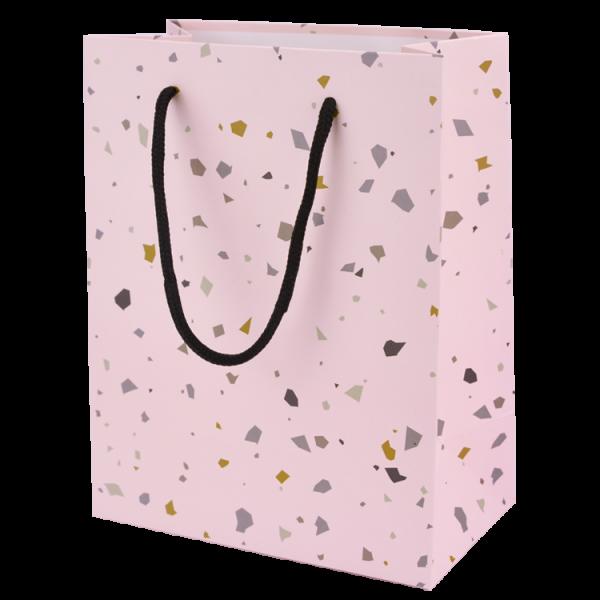 Geschenktasche Terrazzo rosa