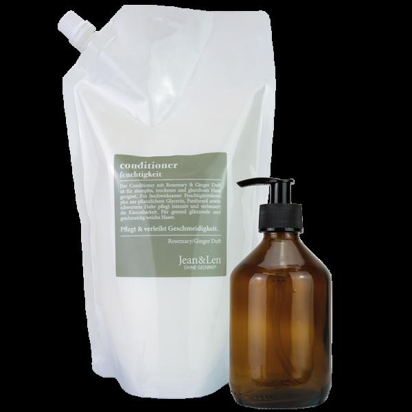 Conditioner Nachfüllpack mit Glasflasche Rosemary/Ginger Feuchtigkeit, 0,9 L